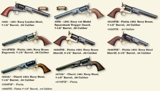 Pietta 1851 Navy Parts